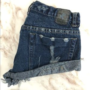 One Teaspoon Bandits Denim Shorts Mid Rise